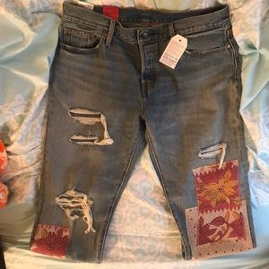 Levi Denim 501 ct Boyfriend Jeans